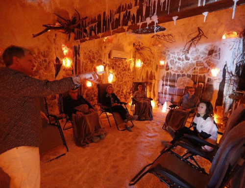 A therapeutic cave – with 20,000 pounds of pink salt – opens in Clarence